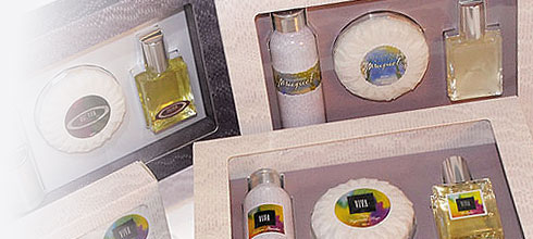 A beautifully presented travel pack comprising a matching set of 30g Talcum Powder, a 100g Vegetable Soap and a 25ml Cologne.